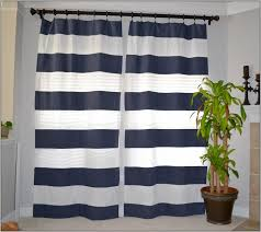 Nautical Bedroom Curtains Green Horizontal Striped Curtains