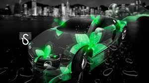 audi r8 neon flowers fantasy city