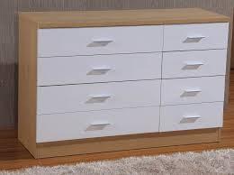 High Gloss 8 Drawer Chest 4 4 Bedroom