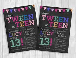 Custom Printable 5x7 Tween To Teen Girls 13th Thirteen Birthday