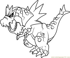 Small Picture Tyrantrum Pokemon Coloring Page Free Pokmon Coloring Pages