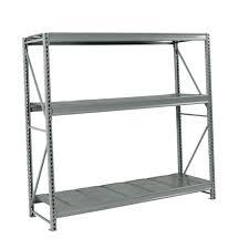 edsal 3 tier steel freestanding utility silver deck home organizer shelving unit