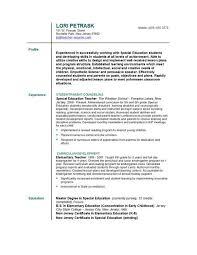 Gallery Of Resume Format For Teacher Images Example Of Teacher
