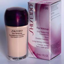 spf 17 sunscreen shiseido the makeup dual balancing foundation i 00 very light ivory full size