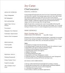 Executive Resume Templates Free Resume Templates 2018