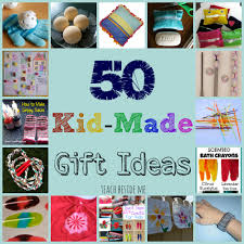 This year I am collecting a bunch of kid-made gift ideas that could be made  for parents, grandparents, cousins or siblings.