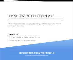 pitch document template how to pitch a tv show and develop tv show ideas with template
