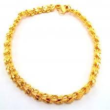 d cut heart bracelet in 22k yellow gold