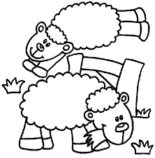 Small Picture Coloring Pages Sheep Animated Images Gifs Pictures