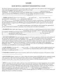 Rental Lease Agreement Sample - Sarahepps.com -