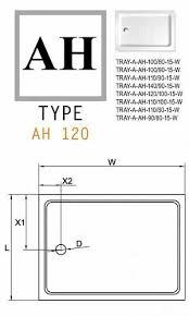 <b>Cezares AH</b>-<b>форма</b> TRAY-A-AH-120/80-15-W <b>душевой поддон</b> ...