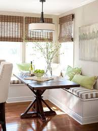 kitchen banquette furniture. Farmhouse Dining Table With Pedestal Base For Breakfast Nook That Has A Banquette Bench Kitchen Furniture T
