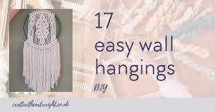 17 easy diy wall hangings craft with