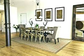 rugs under dining table size room