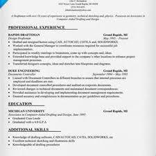 Draftsperson Resume Template New Autocad Drafter Bongdaao Com