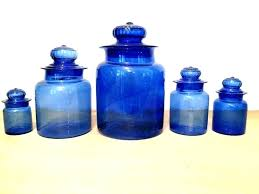 blue glass canisters kitchen canister set blue vintage canister set blue glass canisters for the kitchen