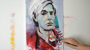 painting andy warhol contemporary modern pop art style