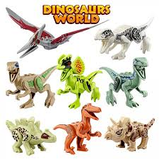 growsland dinosaur toys gifts 8 pcs dinosaur building blocks mini plastic dinosaur figures realistic dinosaur party