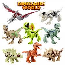 growsland dinosaur toys gifts 8 pcs dinosaur building blocks mini plastic dinosaur figures realistic dinosaur party