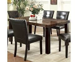 Dining Table Co Coaster Orlando Rectangular Dining Table W Faux Marble Top Co 103791