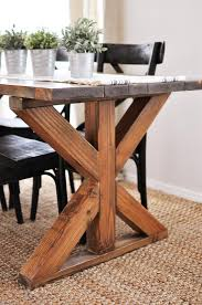 farmhouse x base table buildsomething com