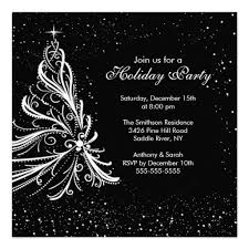 White Christmas Invitations Black White Christmas Holiday Party Invitation Annual Coffey