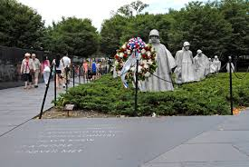 u s department of defense photo essay tourists the korean war veterans memorial in washington d c 30 2010