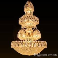 led crystal chandelier light noble luxury high end pendant lamp large american vintage style hotel project construction lights factory chandeliers