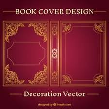 ornamental book cover design free vector by freepik
