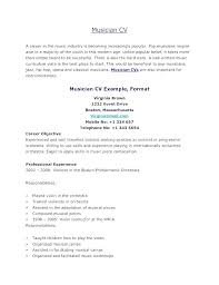 Musician Resume Template Free Musician Resume Template Musicians Mesmerizing Musician Resume