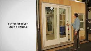 Identifying The Components Of An Andersen Gliding Door YouTube - Exterior lock for sliding glass door