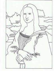 Famous Paintings Coloring Pages Pinterest Leonardo Da Resume