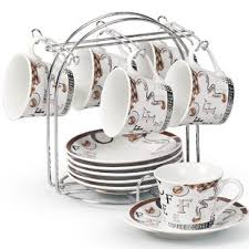 Decorative Cup And Saucer Holders Coffee Cup Sets With Stand Wayfair 23