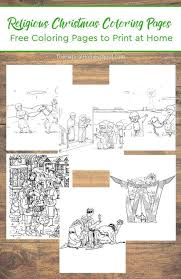 religious christmas coloring pages set