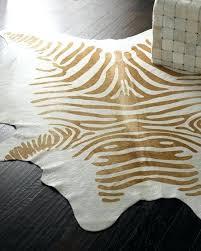 cowhide zebra rugs cream hide rug mu