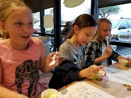 brownie ice cream party during girl scout week