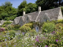 the key to designing a cottage garden is to grow lots of blowsy plants close together