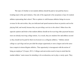 essays about college athletes getting paid essay about why college athletes should be paid 2035 words
