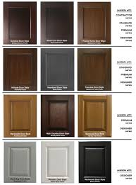 10 stain choices vanity finish selection chart