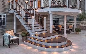 amazing lighting steps. modern deck stair lights amazing lighting steps l