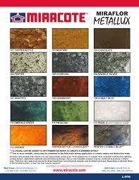 Miracote Color Chart Miracote Miraflor Metallux The Stain Store