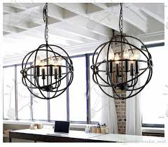 captivating iron orb chandelier at rh lighting restoration hardware vintage pendant lamp foucault s