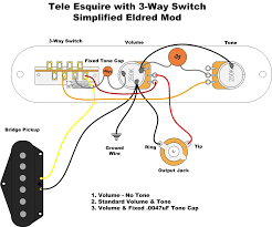 esquire eldred mod wiring question diagram telecaster guitar forum here is the simplest possible way to wire it up