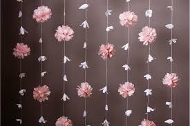 Paper Flower Garland Puff And Paper Flower Garland