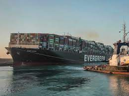 Ever Given Container Ship Traveling Through Suez Canal Again