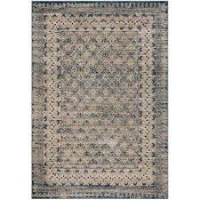 bwood light gray blue 6 ft x 9 ft area rug