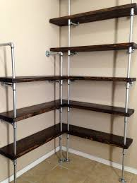 Fancy Corner Shelves Fancy Design Pipe Shelving Unit Beautiful Corner Shelf Shelves Ideas 41