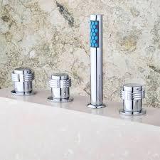 waterfall bathtub faucet widespread 2 handle waterfall bathroom faucet in brushed nickel