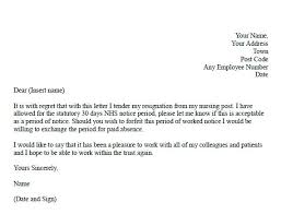 Resignation Letter For Nurses Resignation Letter Format Top Sample ...