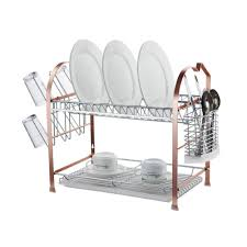 ... Kitchen dish rack, Remakable Rack Kitchen Brown Metal Color Modern Made  Of Stainless Steel Rack ...